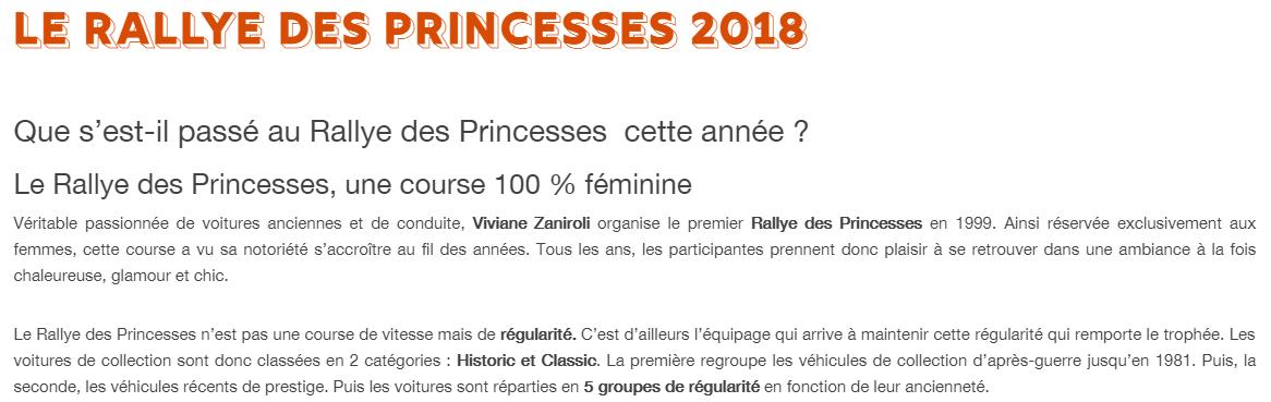 Le Rallye des Princesses 2018
