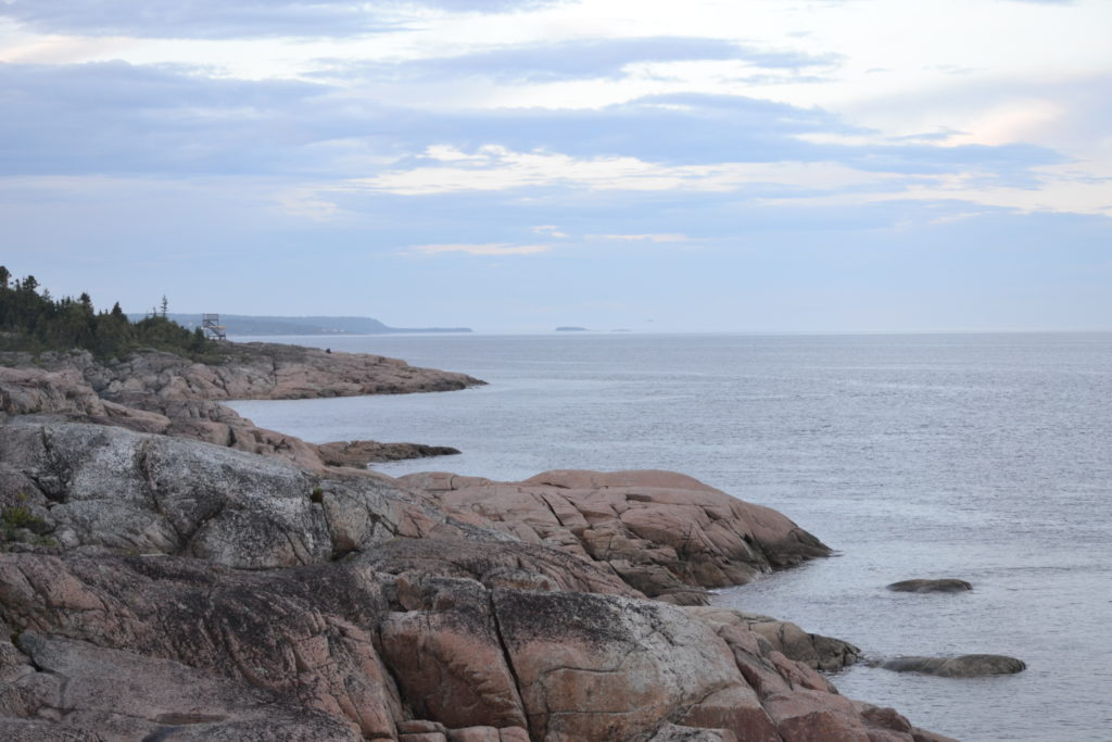 Vue depuis les Condos-Natakam - baleines du Saint-Laurent