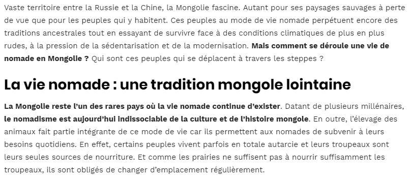La vie nomade en Mongolie